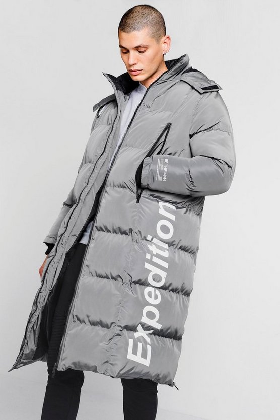 Grey Expedition Longline Duvet Puffer