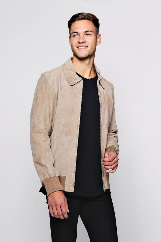 Luxe Real Suede MA1 Bomber