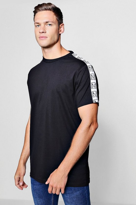 Longline MAN Tape Sleeve T-Shirt