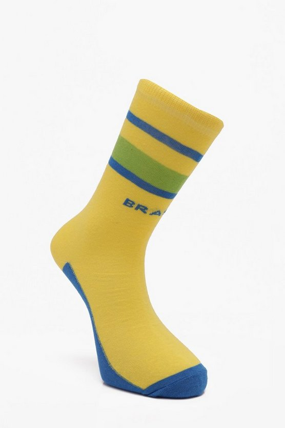 Brazil World Cup Socks