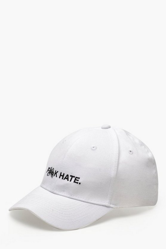 "Pride """"F**K Hate"""" Embroidered Cap"