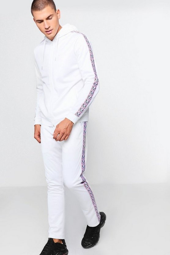 MAN Zip Through Tracksuit With Side Tape