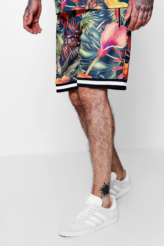 con tropical de largo mediano de estampado verde pantalones Conjunto cZWABA