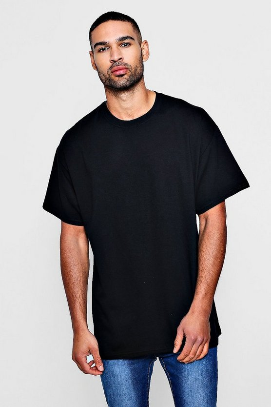 Mens Black Oversized T-Shirt