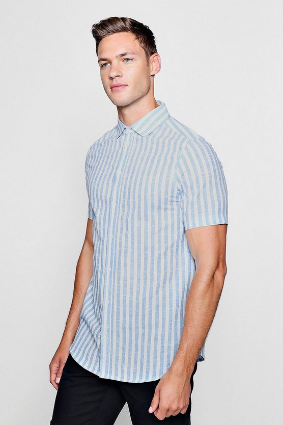 Bold Stripe Short Sleeve Shirt