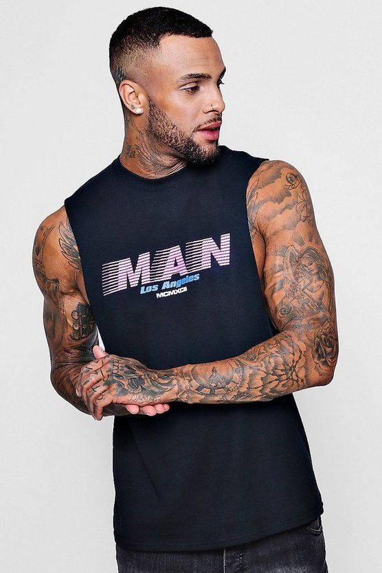 Los Angeles MAN Print Tank Vest