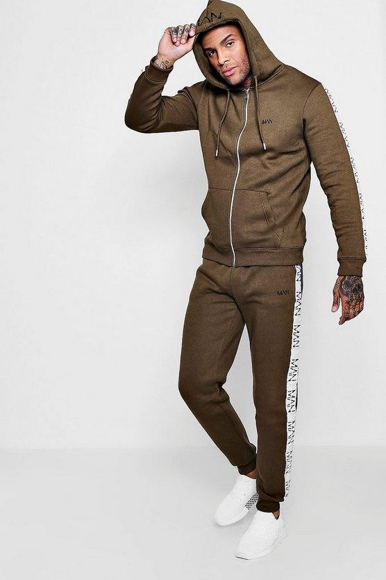 Original MAN Embroidered Tracksuit With Tape