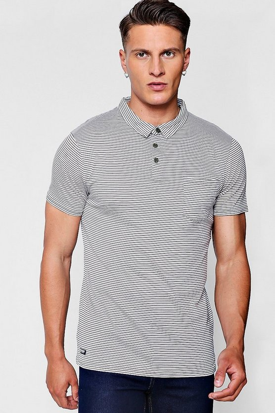 Stripe Yarn Dye Polo