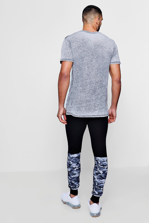 camufladas jérsey piezas de skinny correr negro Pantalones de de Fw6qZ4wX