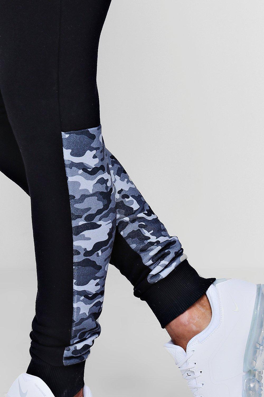 camufladas piezas jérsey de skinny de correr Pantalones negro de AwPXCqC