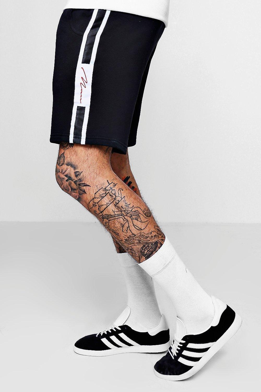 MAN Signature Tape Mid Length Shorts