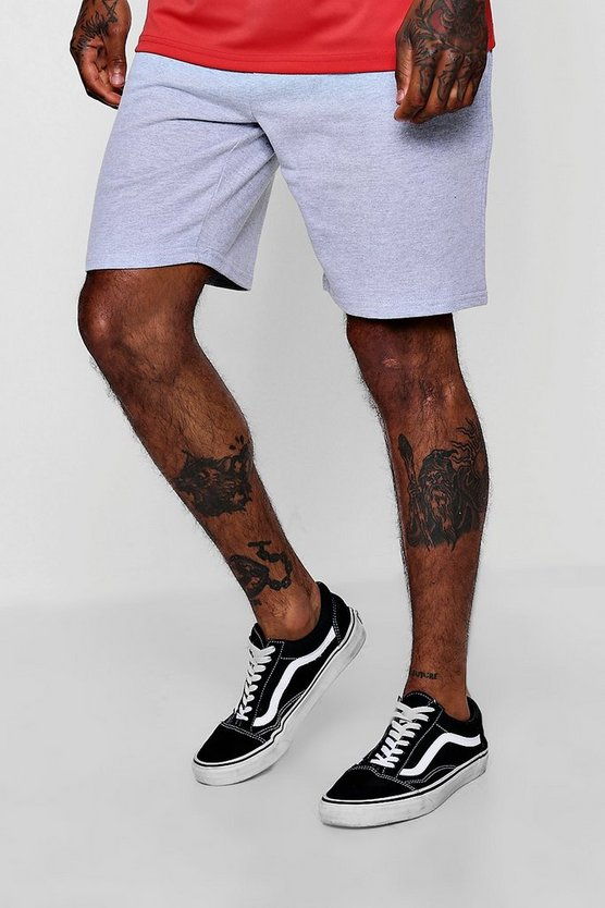 Short en jersey mi-long teint par sections