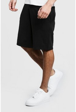 Mens Black Jersey Basic Basketball Shorts