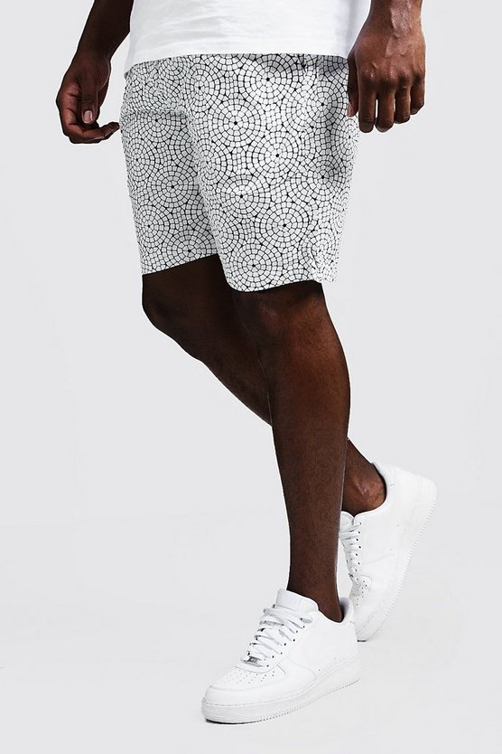 Mens Ecru Big And Tall Drawstring Short