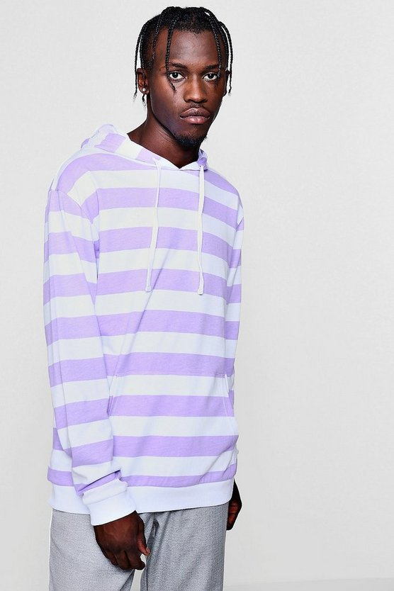 Over The Head Stripe Hoodie