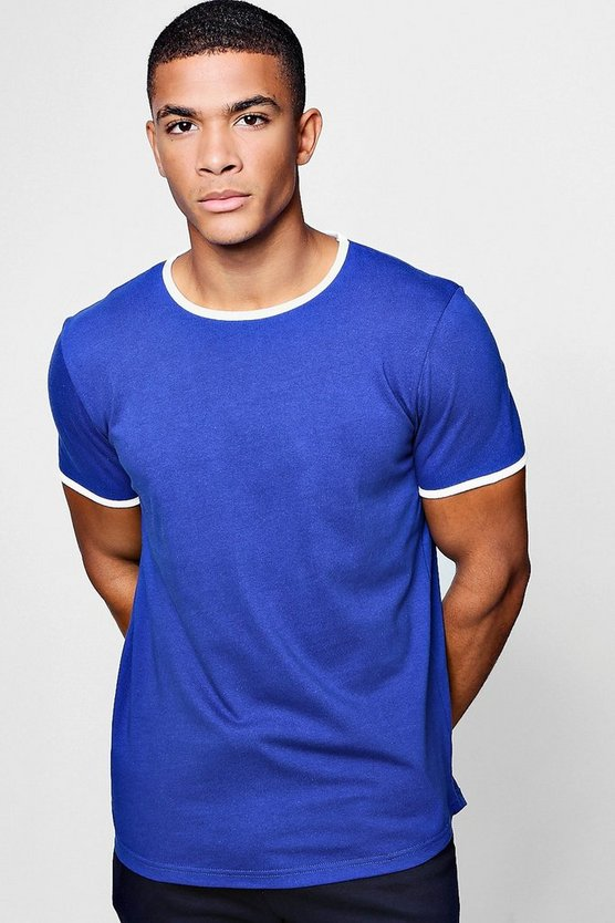 Ringer T-Shirt With Curve Hem