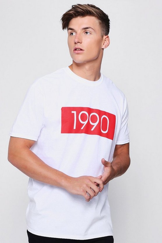 Oversized T-Shirt With 1990 Print