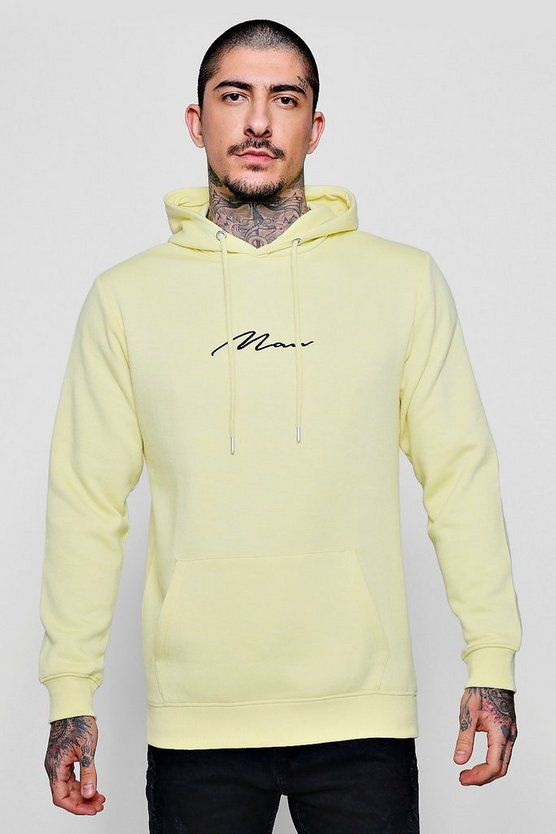 MAN Signature Embroidered Hoodie