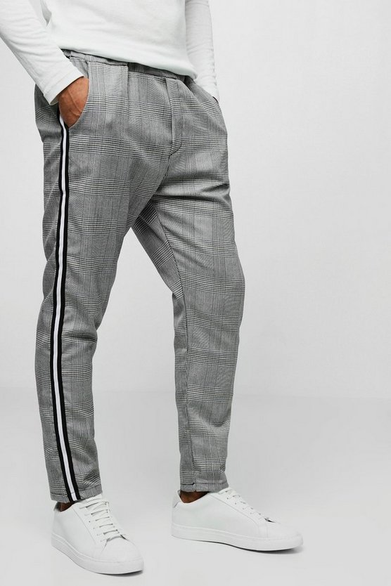 Smart Check Jogger With Side Taping