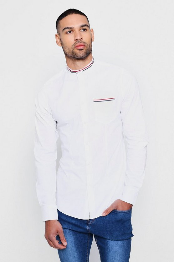 Sports Tape Grandad Collar Shirt