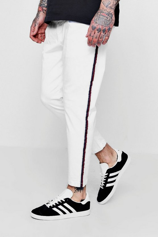 Jogger Style Chino With Taping