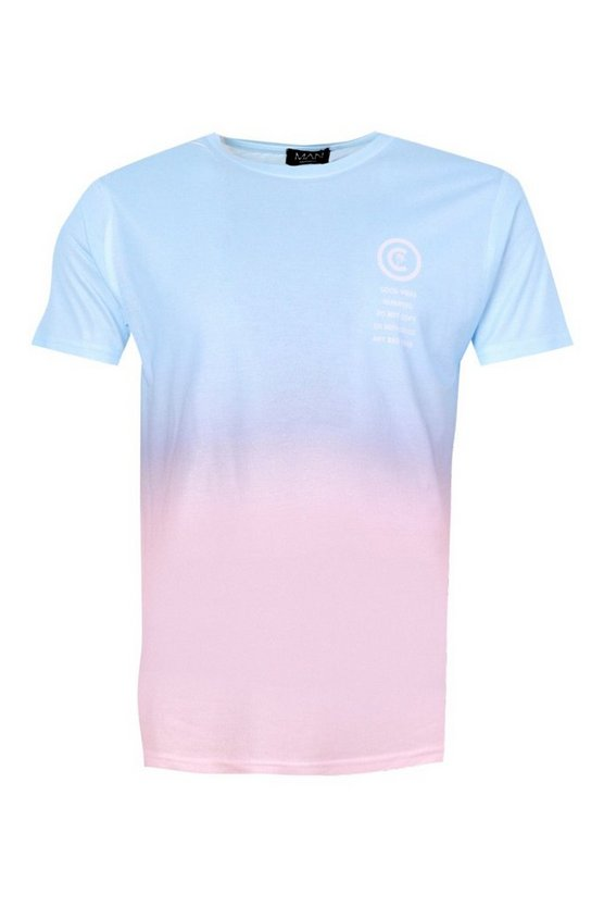 Faded Ombre Pocket Print T Shirt by Boohoo Man