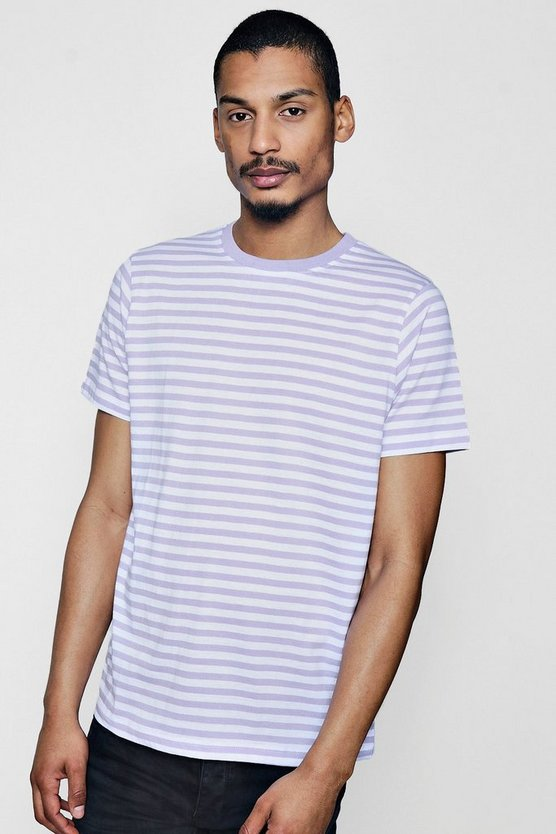 Yarn Dye Stripe Crew Neck Tee