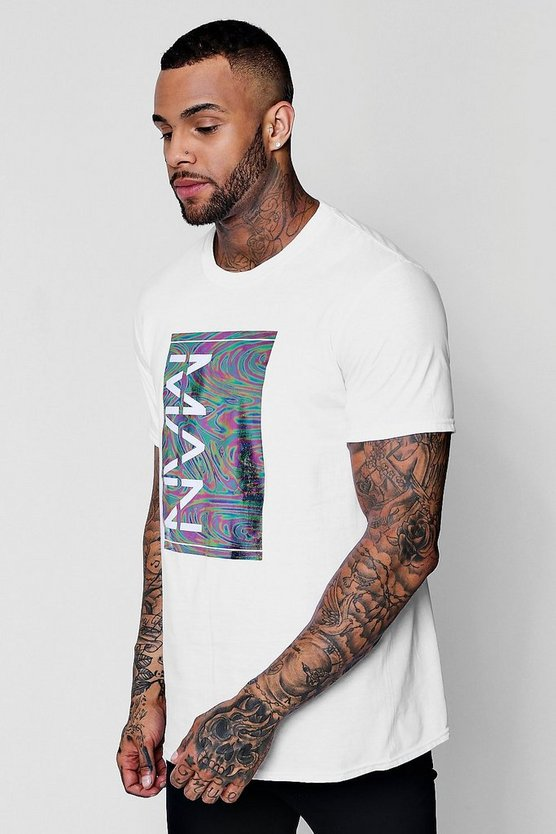 Oversized Iridescent MAN Box T-Shirt