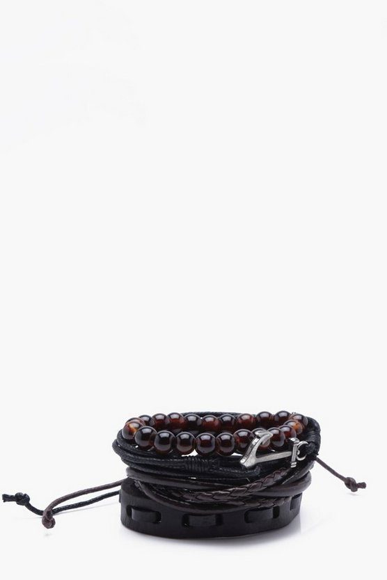 Anchor Wrap Stack Bracelet
