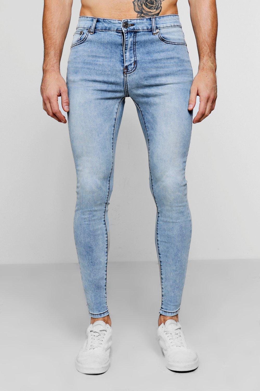 skinny azul claro rociados azul Jeans pálido TwqzW