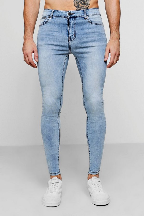 Spray On Skinny Jeans In Pale Blue