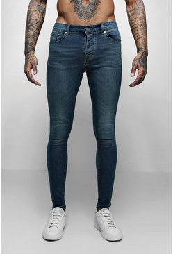 Mens Spray On Skinny Jeans In Antique Wash