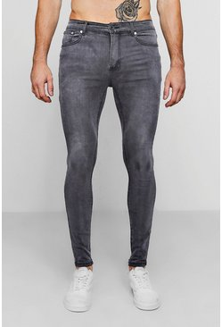 Charcoal Spray on skinny jeans i grå tvätt