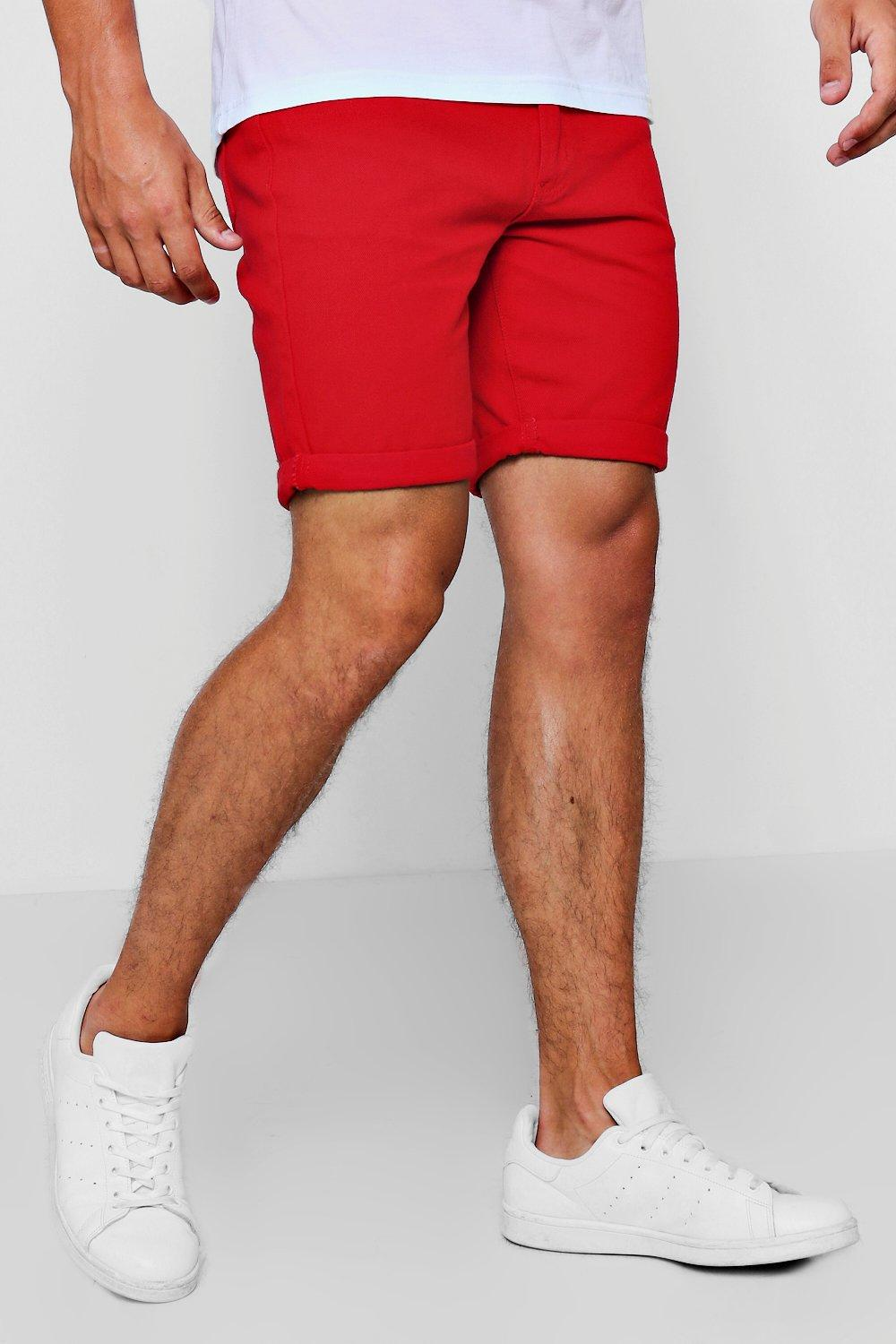fit rojo Short rojos slim en denim Xq114xT