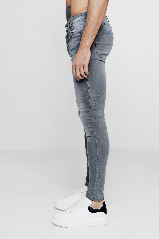 rociados skinny gris gris pálido claro Jeans H0FnS8S