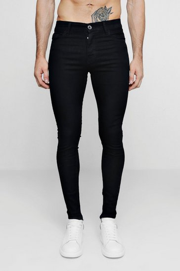 Spray On Skinny Black Denim Jeans