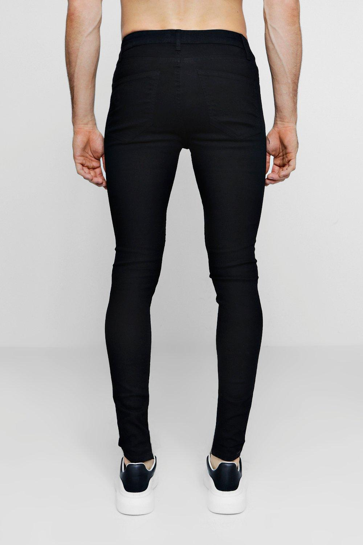 denim rociados de Jeans negro pitillo en negro qEwZ7wx