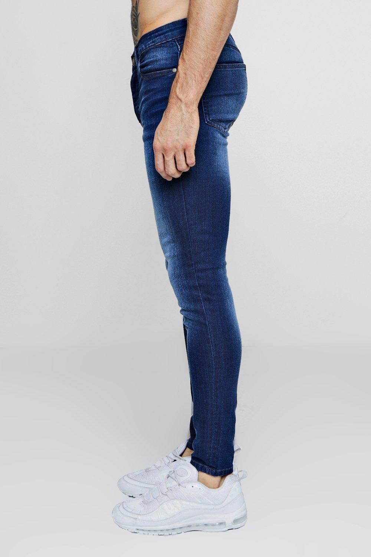 Jeans rociados azul skinny medio azul medio UxwxCB6v