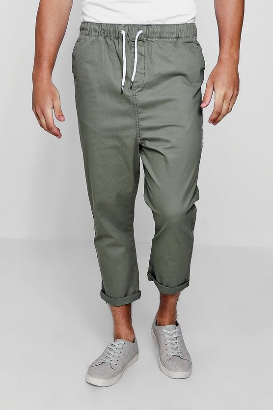 Cropped Chino With Drawstring Waist