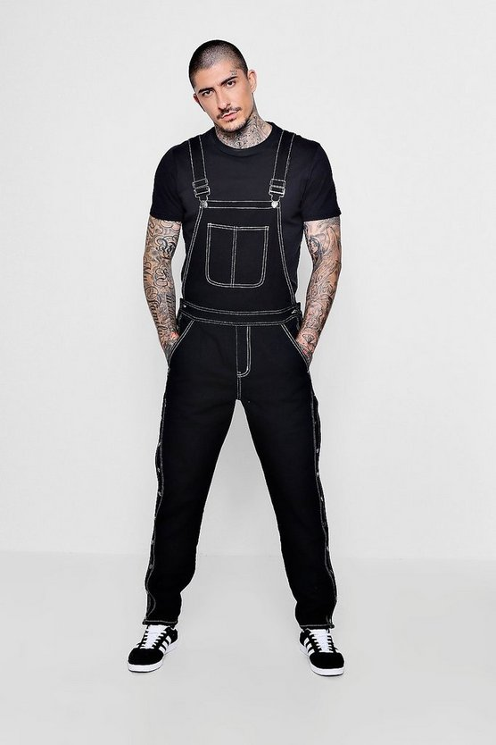 Slim Fit Denim Worker Dungarees