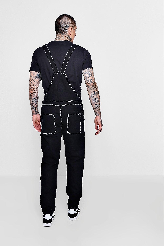 Peto slim fit negro en estilo trabajador denim 1rxqURnw1
