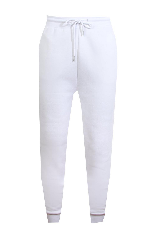 con ligeros correr de Pantalones caída entrepierna blanco básicos qx1FggUwRn