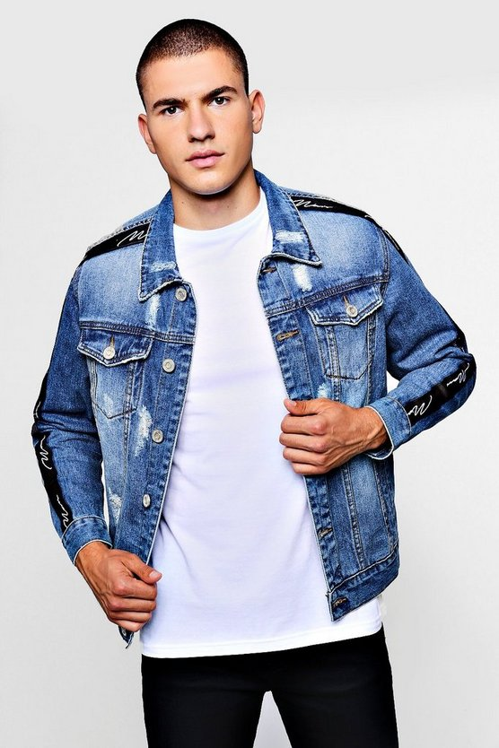 MAN Signature Tape Denim Jacket