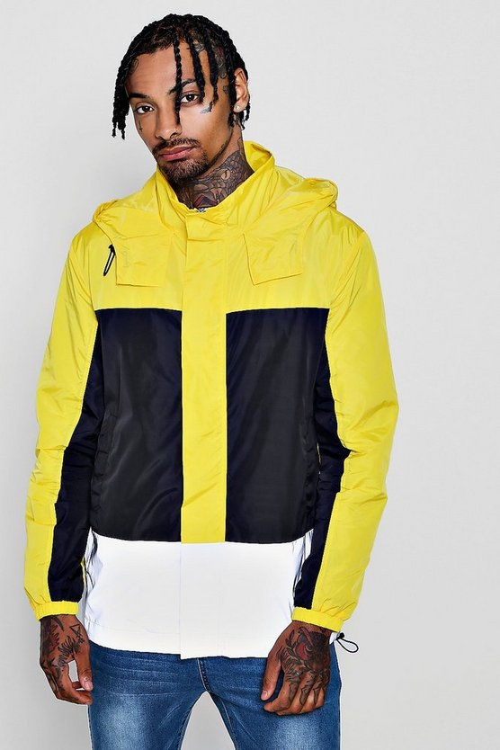 Neon Reflective Colour Block Cagoule