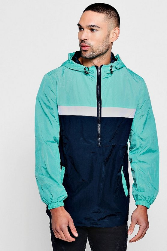 Colour Block Half Zip Cagoule