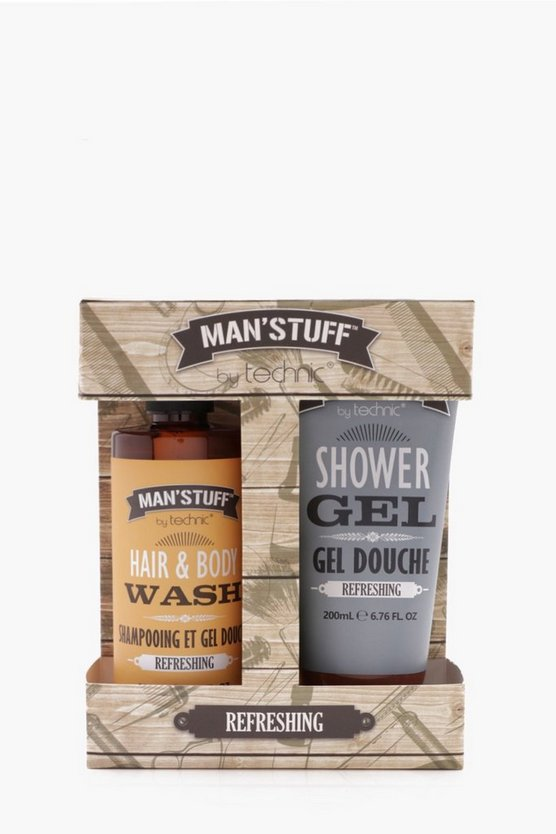 Man Stuff Shower Gel and Body Wash Duo