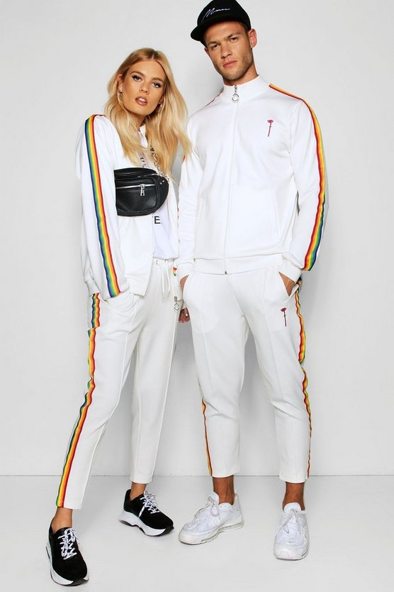 Pride Taped Tracksuit with Cropped Joggers