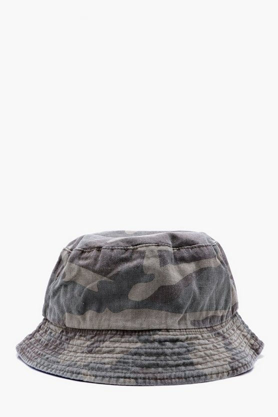 Camo Cotton Bucket Hat
