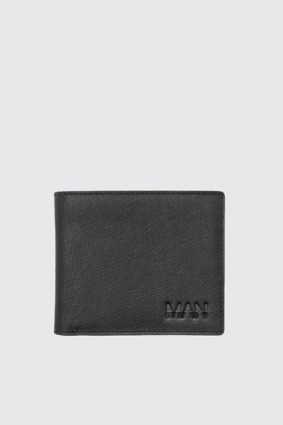 Real Leather MAN Emboss Saffiano Wallet