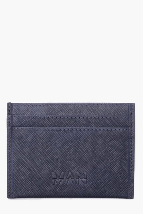 Real Leather MAN Deboss Saffiano Card Holder